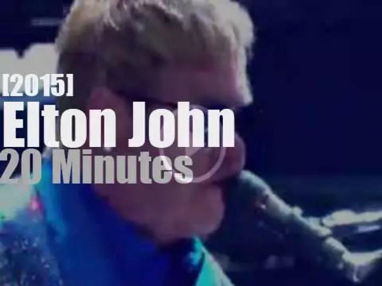 Elton John attends 'Rock in Rio'  (2015)