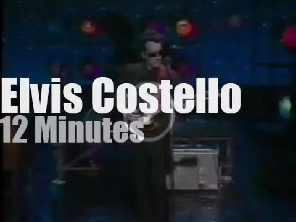 On TV today, Elvis Costello with Joan Rivers (1984)