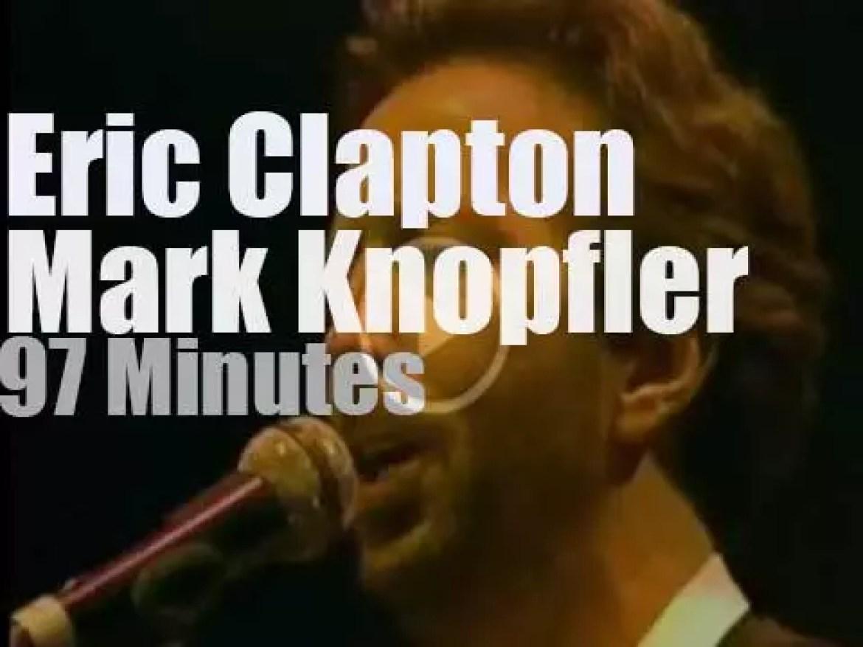 Eric Clapton meets Mark Knopfler in San Francisco (1988)
