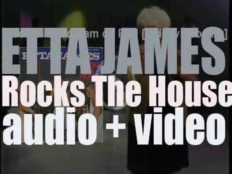 'Etta James records her first live album : 'Rocks the House' in Nashville (1963)