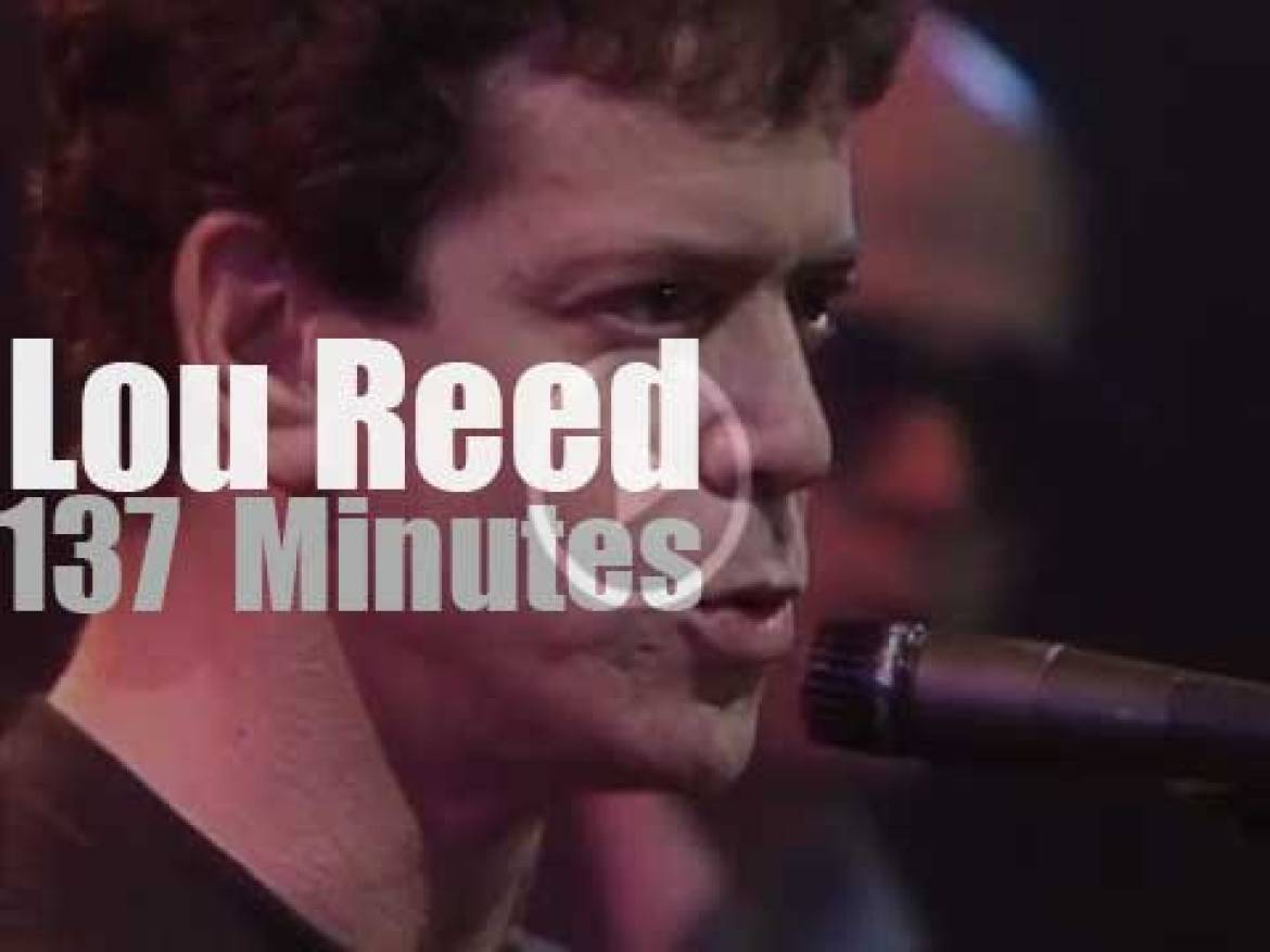 Lou Reed plays in New Jersey (1984)