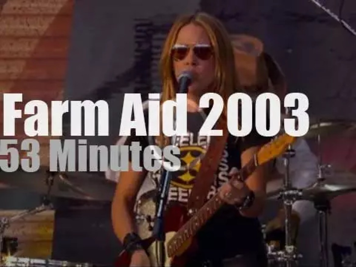Neil Young, Willie Nelson, Sheryl Crow et al are at Farm Aid (2003)