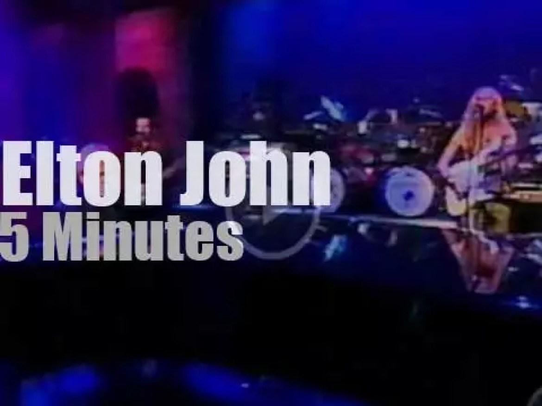 On TV today, Elton John with David Letterman (2001)