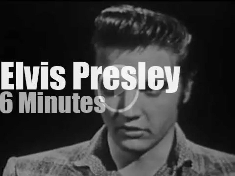 On TV today, Elvis Presley at Ed Sullivan Show (1956)