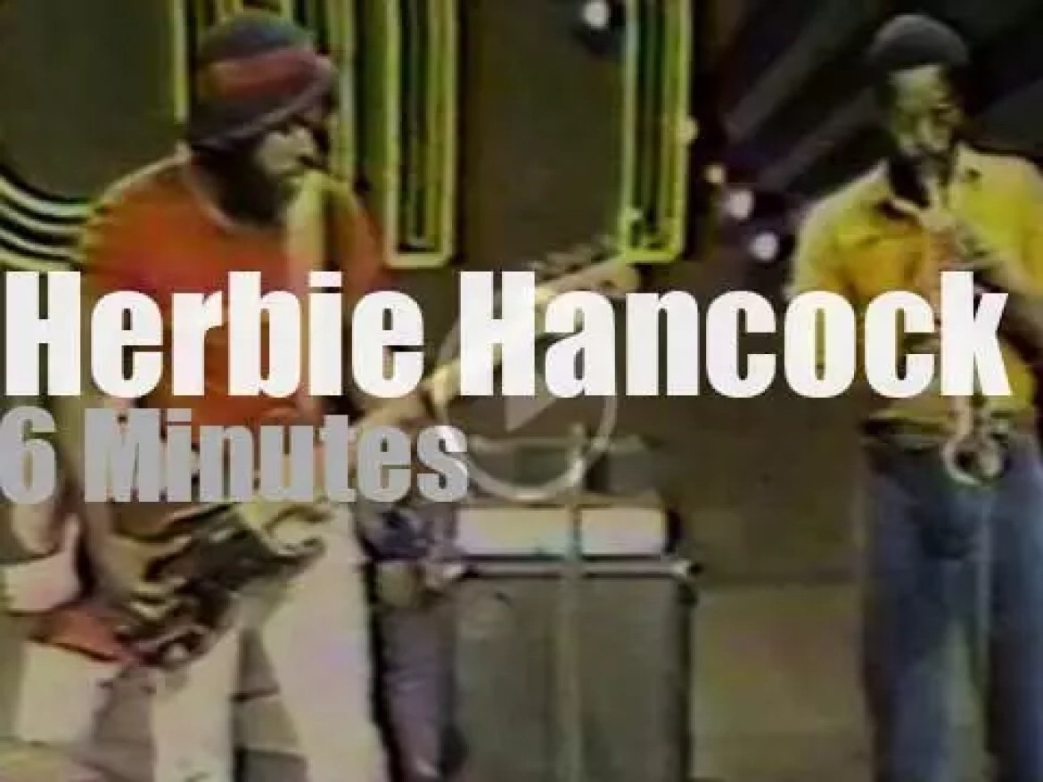 On TV today, Herbie Hancock at 'Soul Train' (1974)