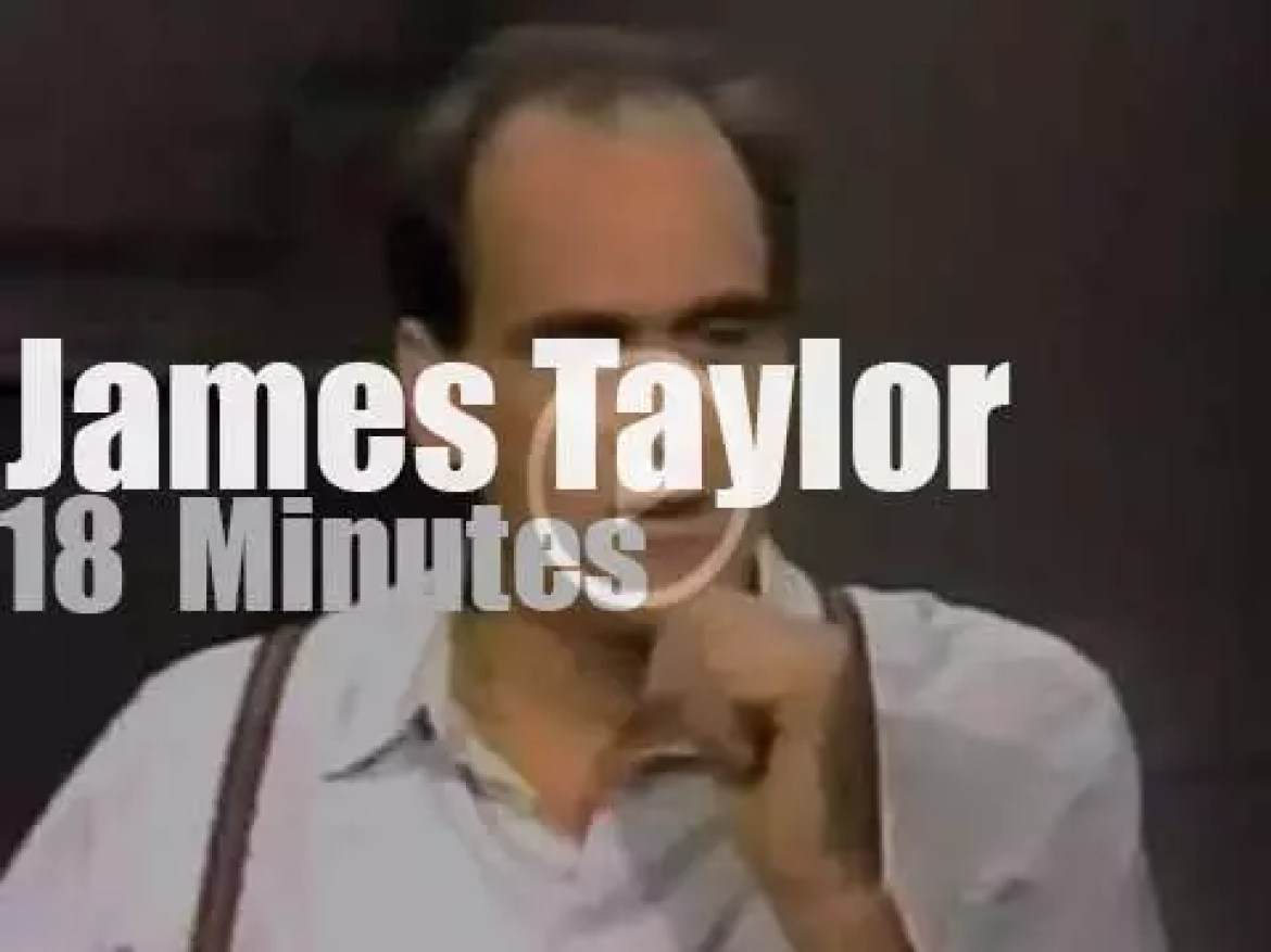 On TV today, James Taylor with David Letterman (1986)