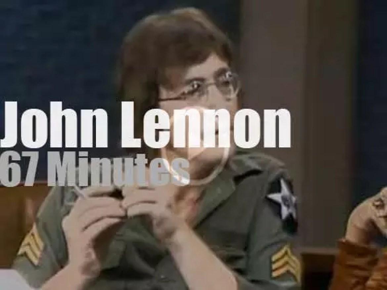 On TV today, John Lennon with Dick Cavett (1971)