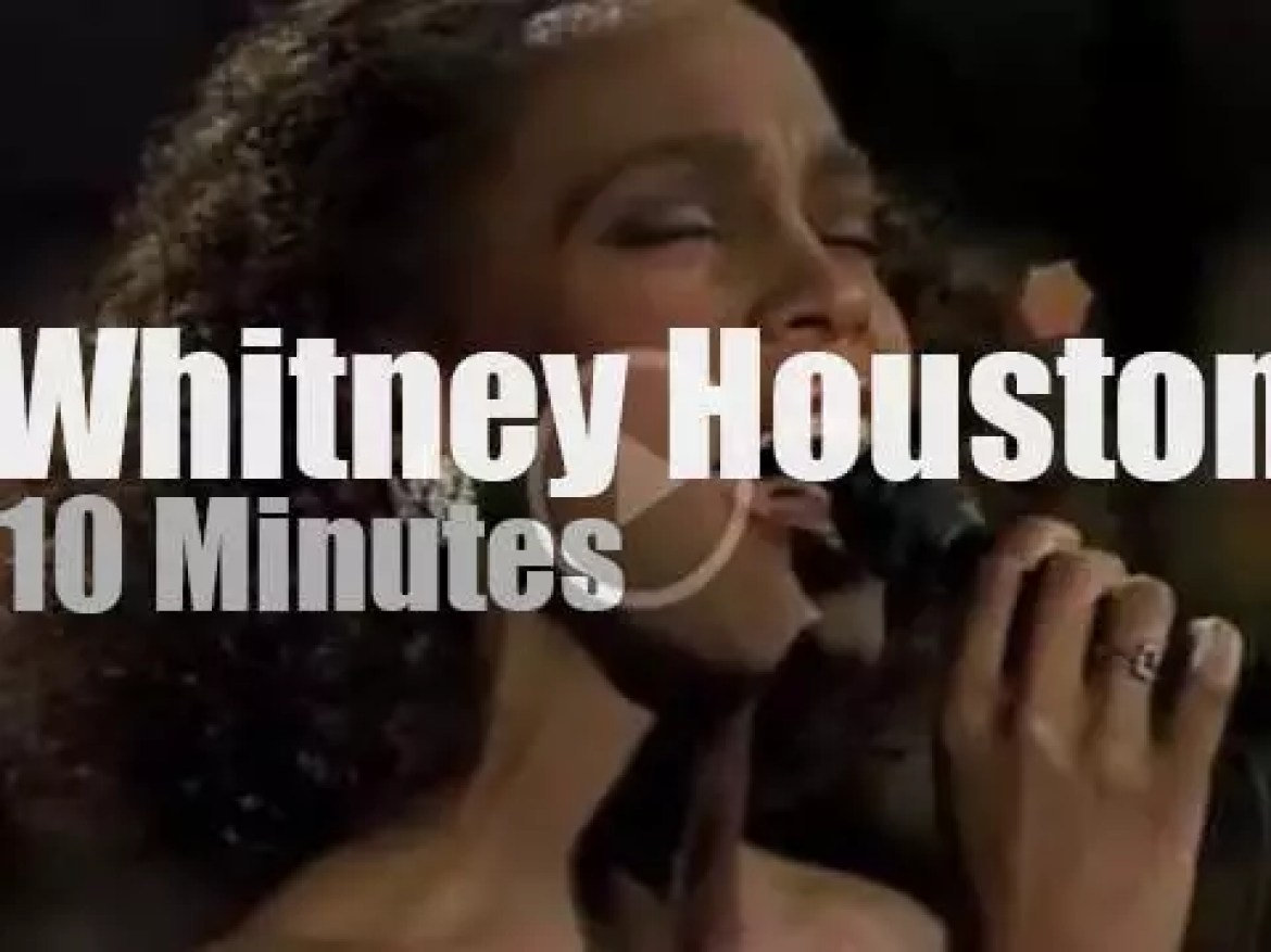 On TV today, Whitney Houston with David Letterman (1985)