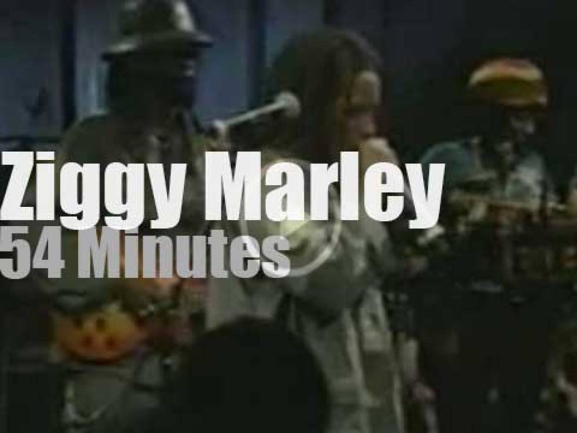 On TV today, Ziggy Marley at 'Sessions At West 54th' (1998)