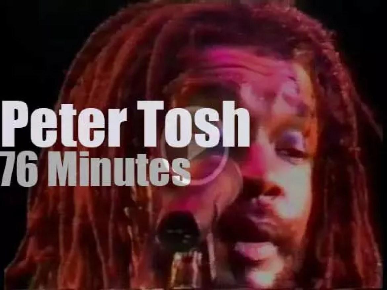 Peter Tosh rocks Rotterdam (1983)