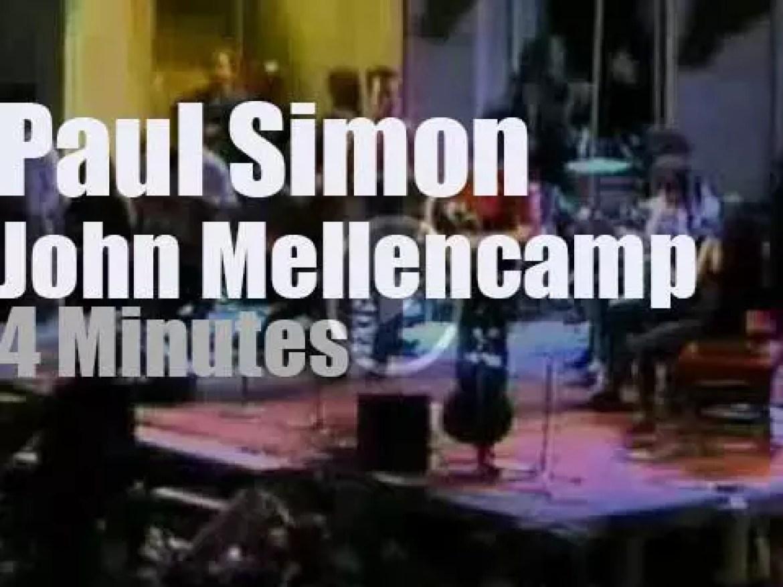 On TV today, Paul Simon teams up with John Mellencamp (1988)