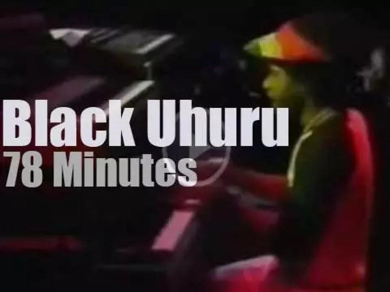 'Rockpalast' tapes Black Uhuru  (1981)