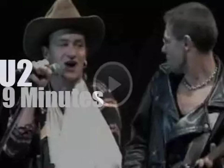 Bono takes his broken arm to Pittsburgh (1987)