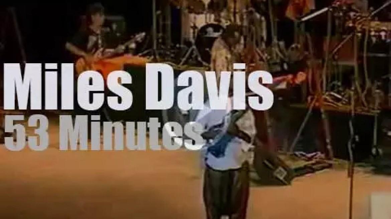 Miles Davis attends 'Warsaw Jazz Jamboree' (1988)