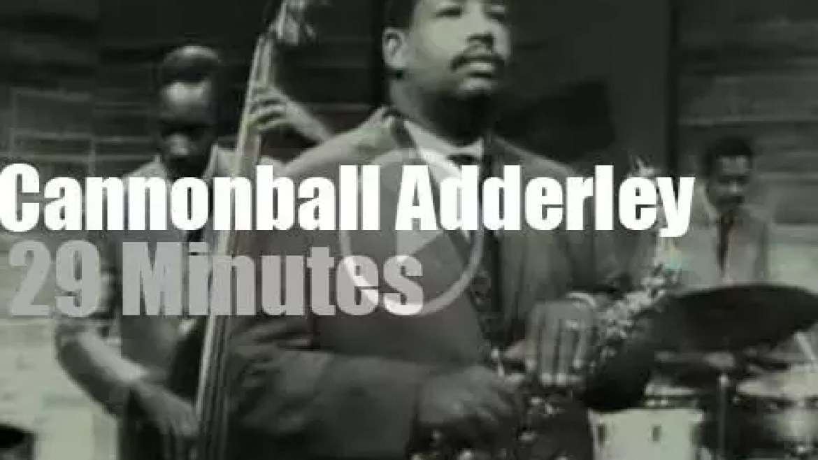 On TV today, Cannonball Adderley  at 'Jazz Casual' (1961)