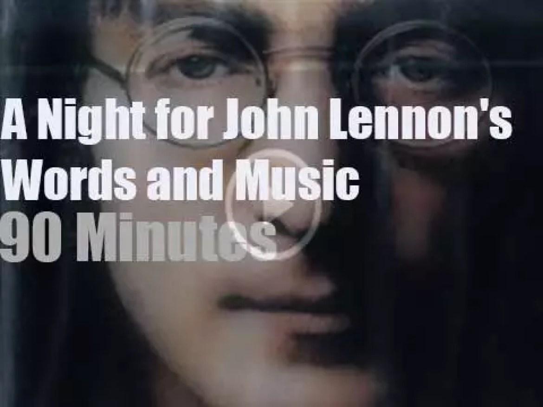 Yolanda, Marc & Alanis Morissette celebrate John Lennon (2001)