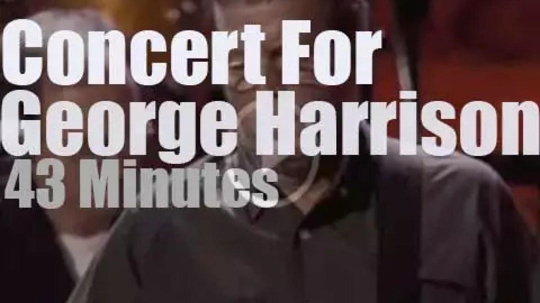 Eric, Paul, Billy et al celebrate George Harrison (2002)