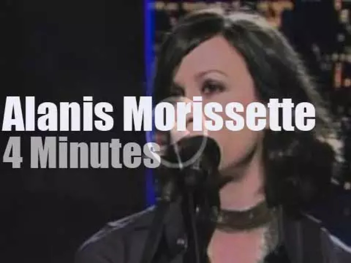 On TV today, Alanis Morissette with David Letterman (2004)