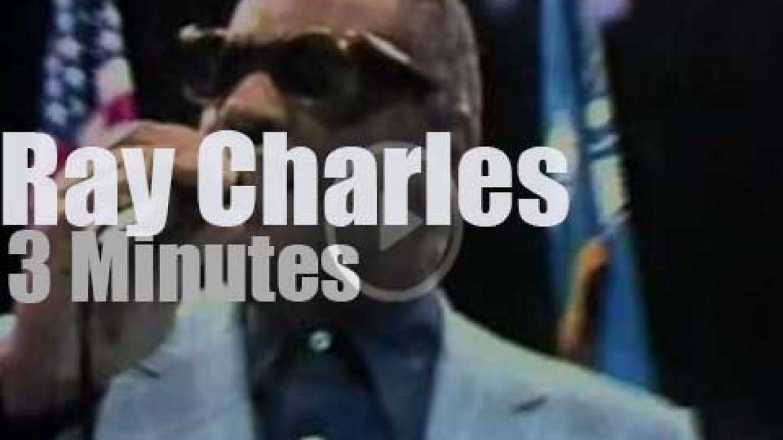 Ray Charles sings before Leonard vs Duran (1980)