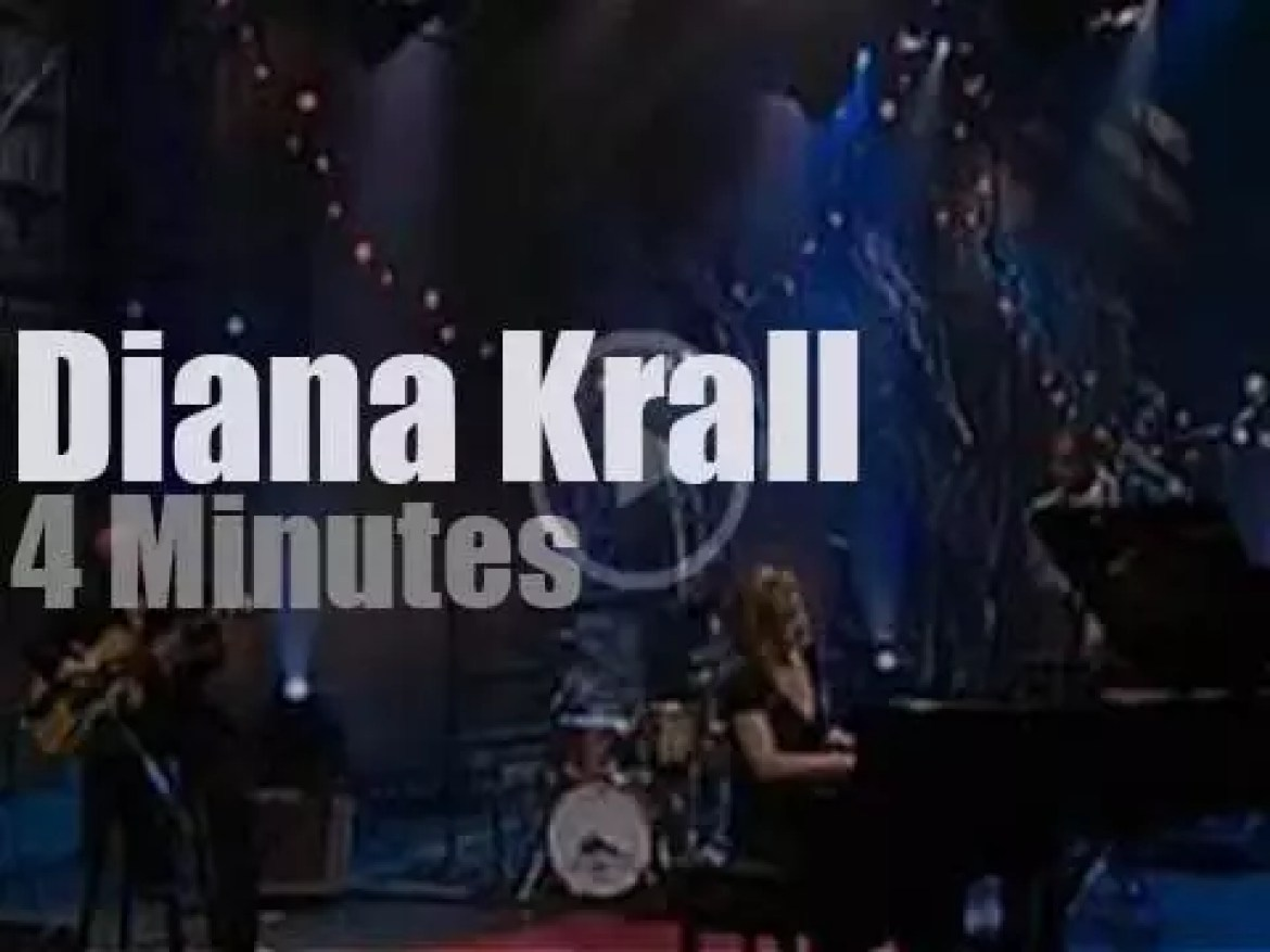 On TV today, Diana Krall with Jay Leno (2005)