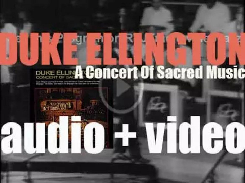 Duke Ellington records ' A Concert of Sacred Music' at Fifth Avenue Presbyterian Church in New York (1965)