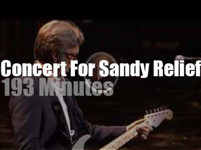 Eric, Alicia, Bruce et al perform for Sandy's victims (2012)