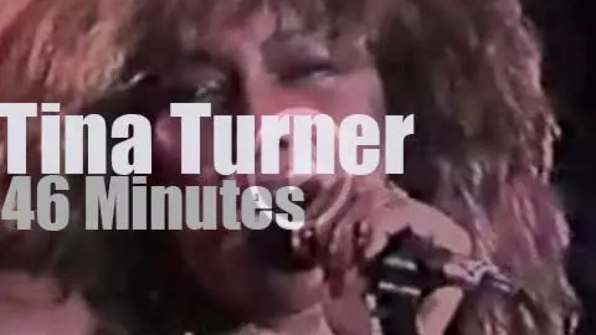 Tina Turner launches her tour in Buenos Aires (1988)