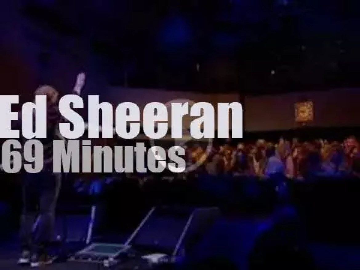 Ed Sheeran gives a private concert (2015)