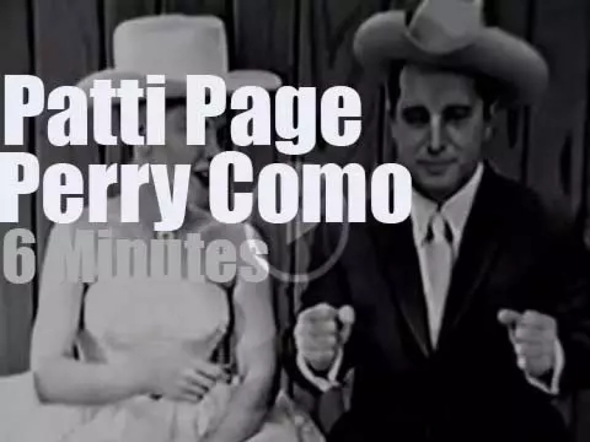 On TV today,  Patti Page with Perry Como (1959)