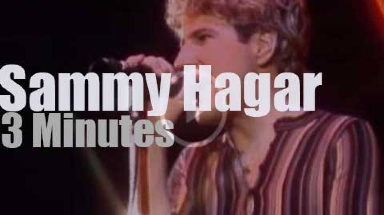 On TV today, Sammy Hagar at 'The Midnight Special' (1978)