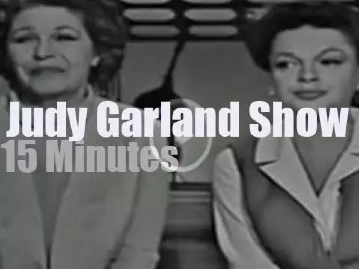 On TV today, 'The Judy Garland Show' episode 18 (1964)