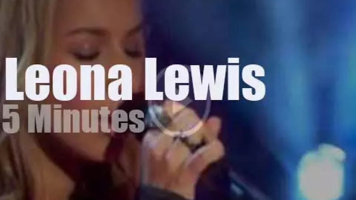 On TV today, Leona Lewis at 'Today' (2010)