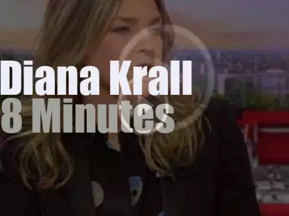 On TV today, Diana Krall at 'BBC Breakfast' (2015)