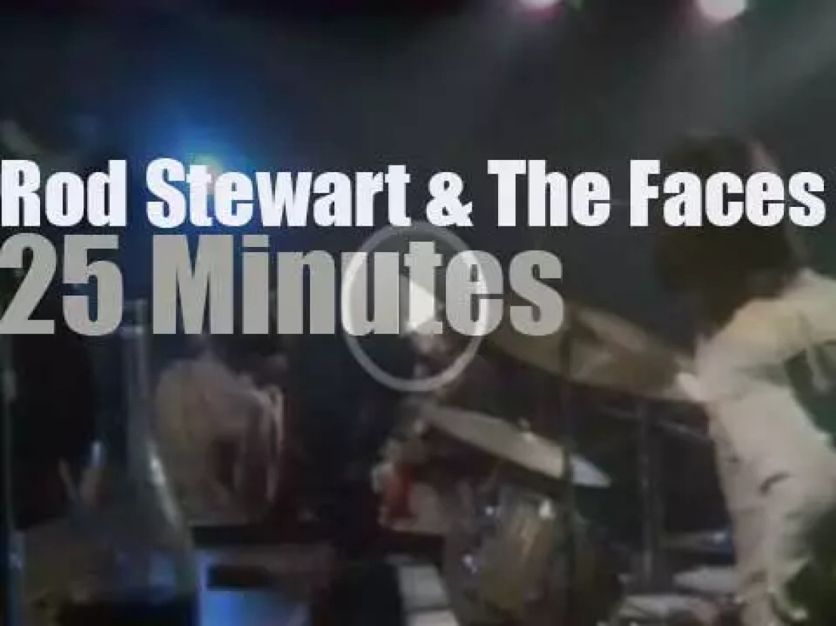 On TV today, Rod Stewart & The Faces (1971)