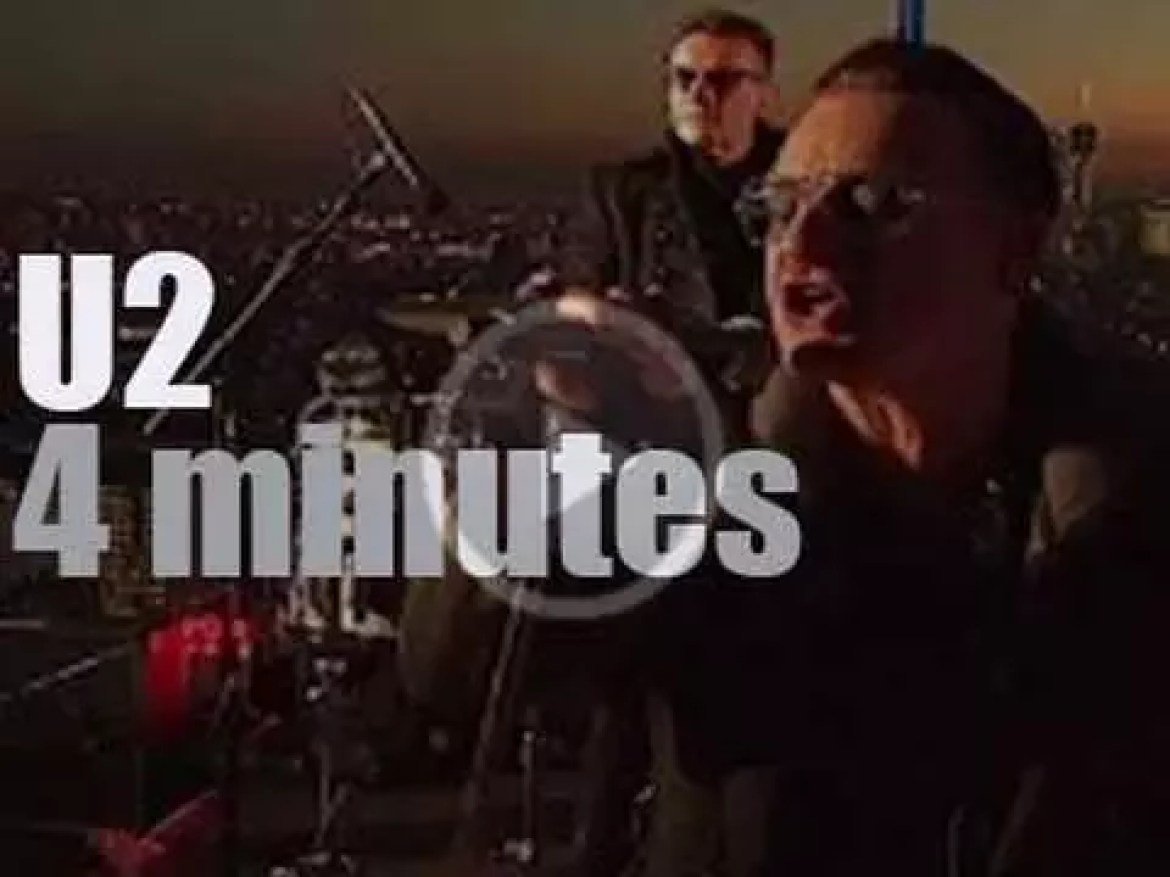 On TV today, U2 are on the roof with Jimmy Fallon (2014)