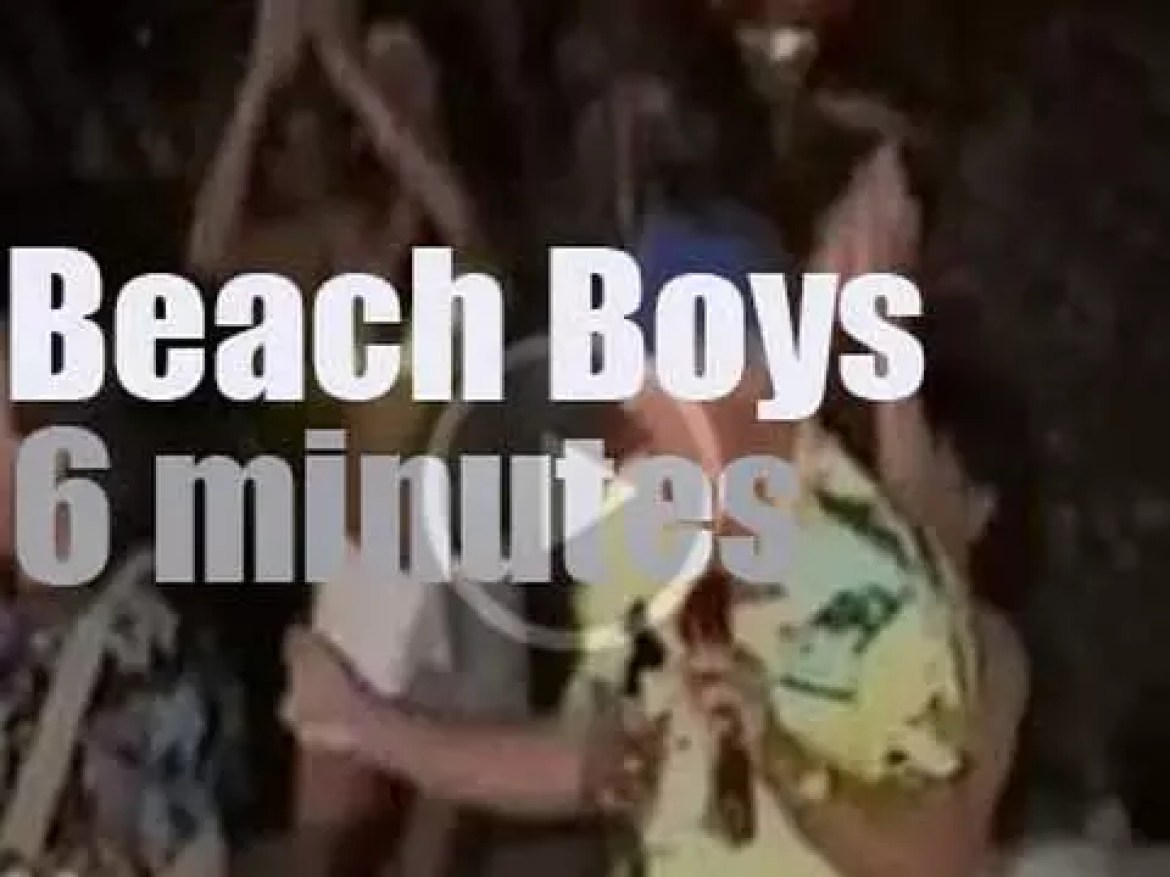 Japan TV shows the Beach Boys live and direct from a Californian swimming pool (1989)