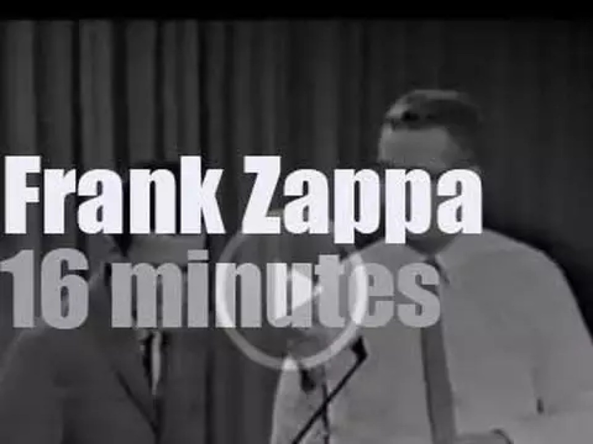 "Tonight on TV, young Frank Zappa plays the bicycle on ""The Steve Allen Show"" (1963)"