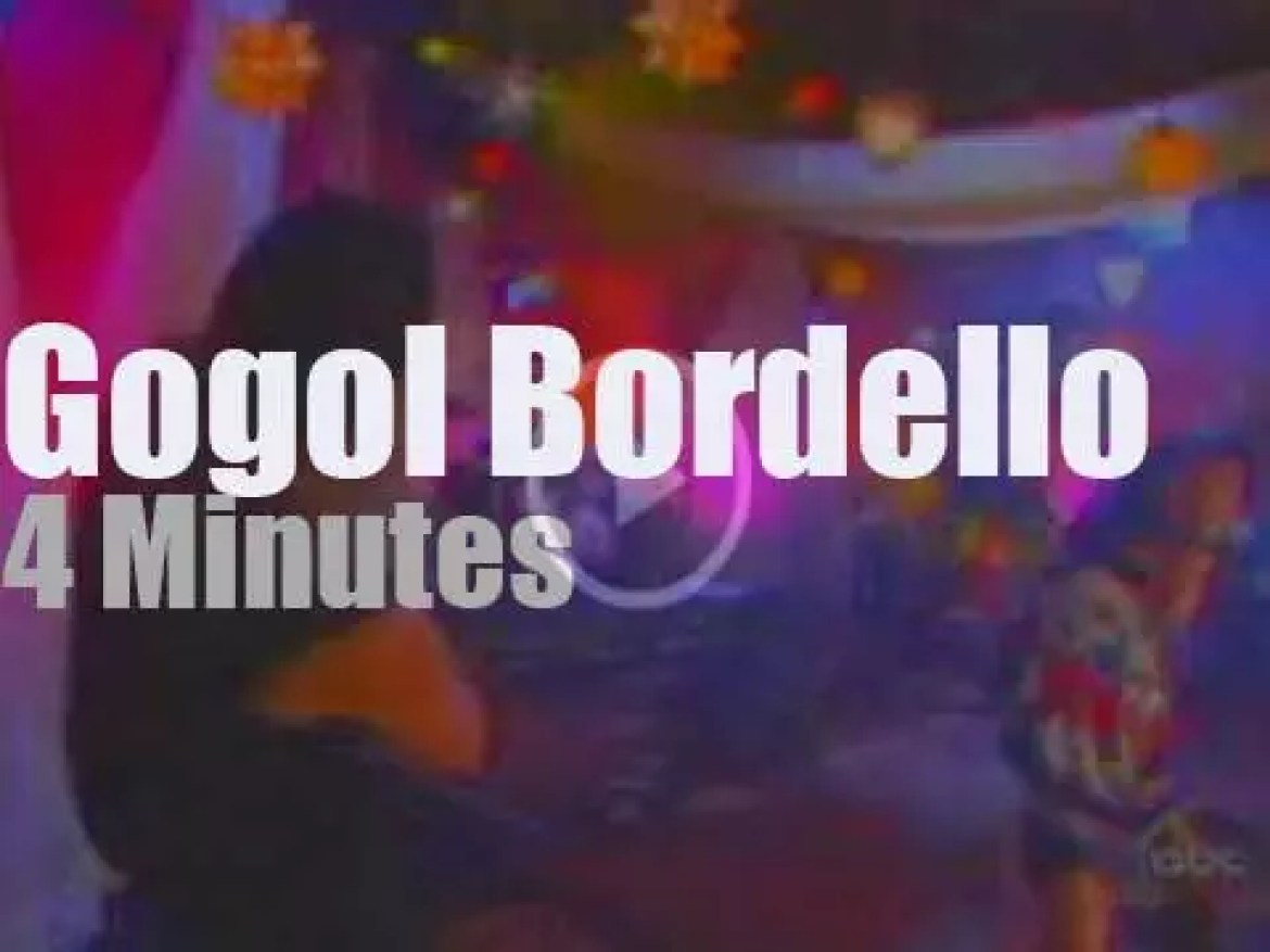 On TV today,  Gogol Bordello at 'Jimmy Kimmel Live' (2006)