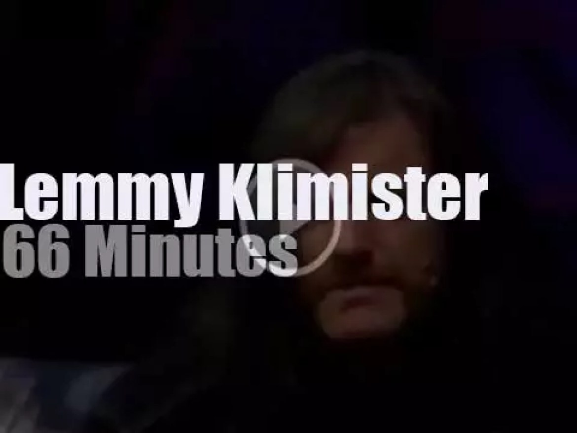 On TV today, Lemmy of Motorhead at 'MTV Headbangers Ball' (1991)