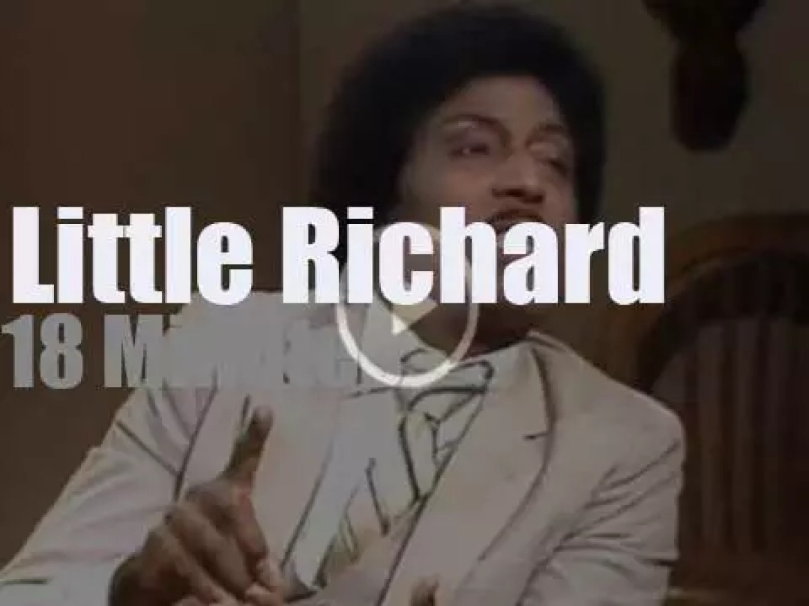 On TV today, Little Richard with David Letterman (1991)