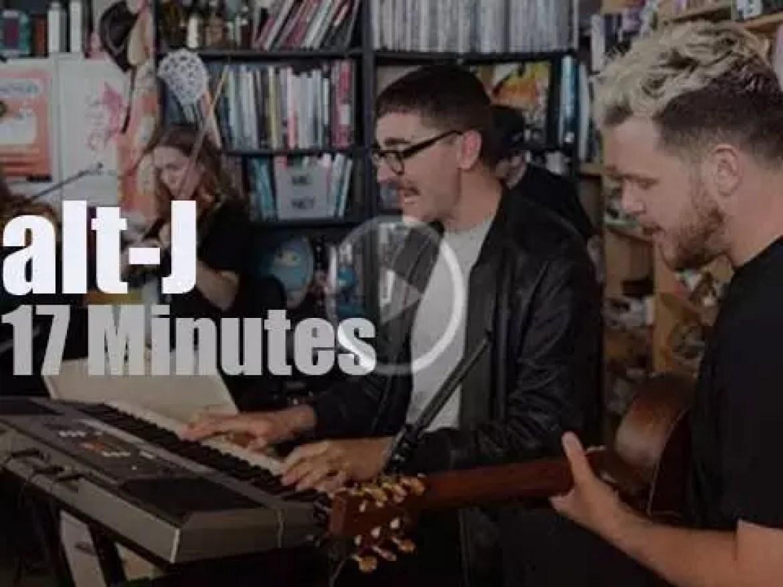 On Web TV today, alt-J at 'Tiny Desk Concert' (2017)