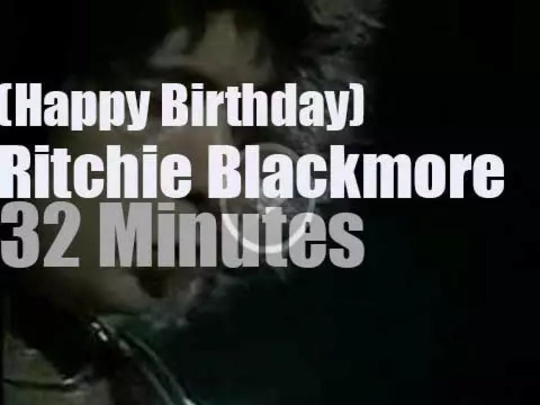 Happy Birthday Ritchie Blackmore