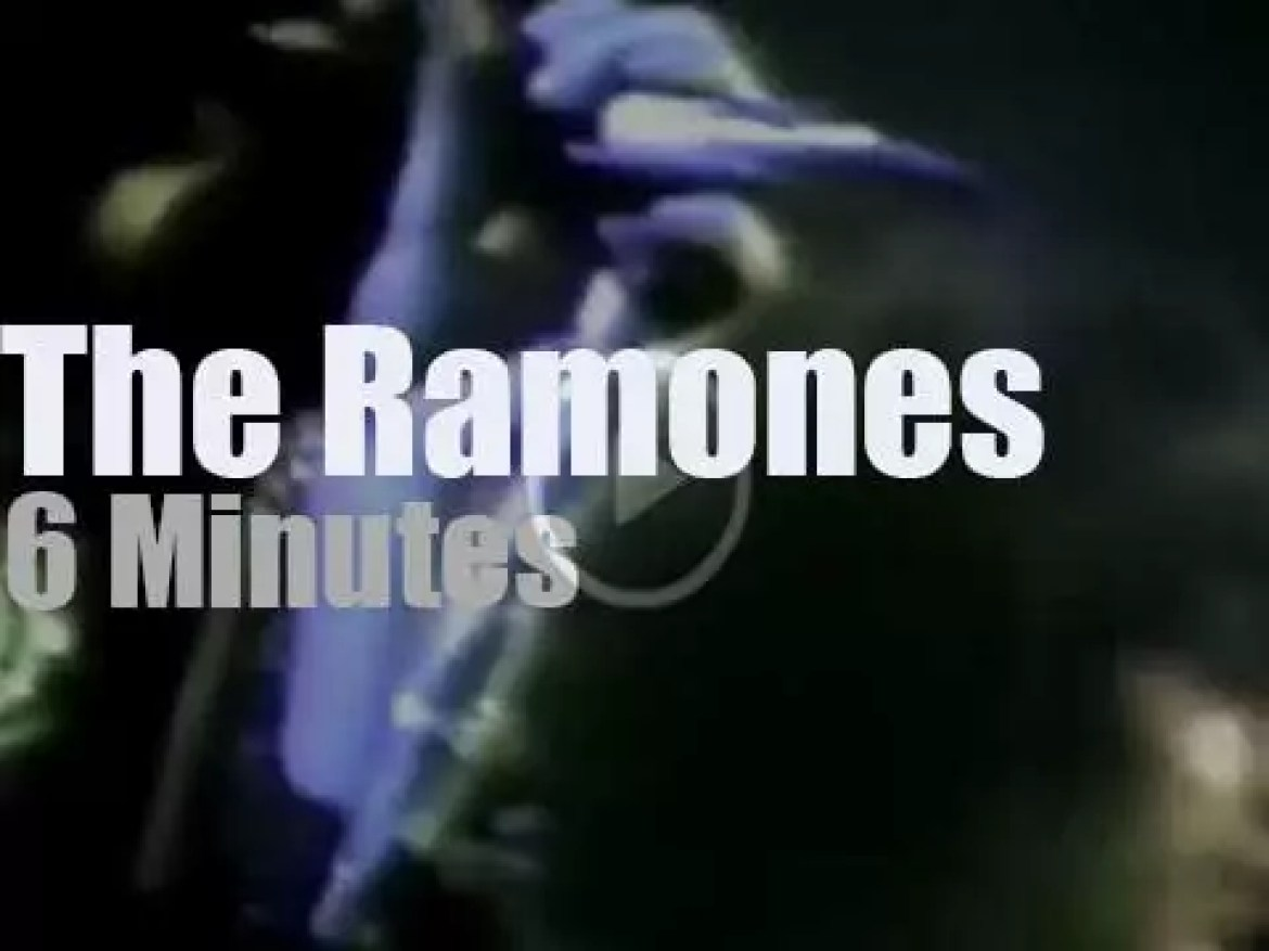 The Ramones play to protect the NY police (1979)