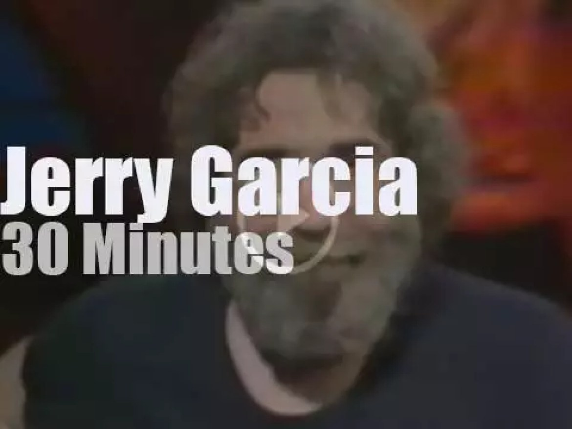 On TV today, MTV interview Jerry Garcia, in depth (1983)