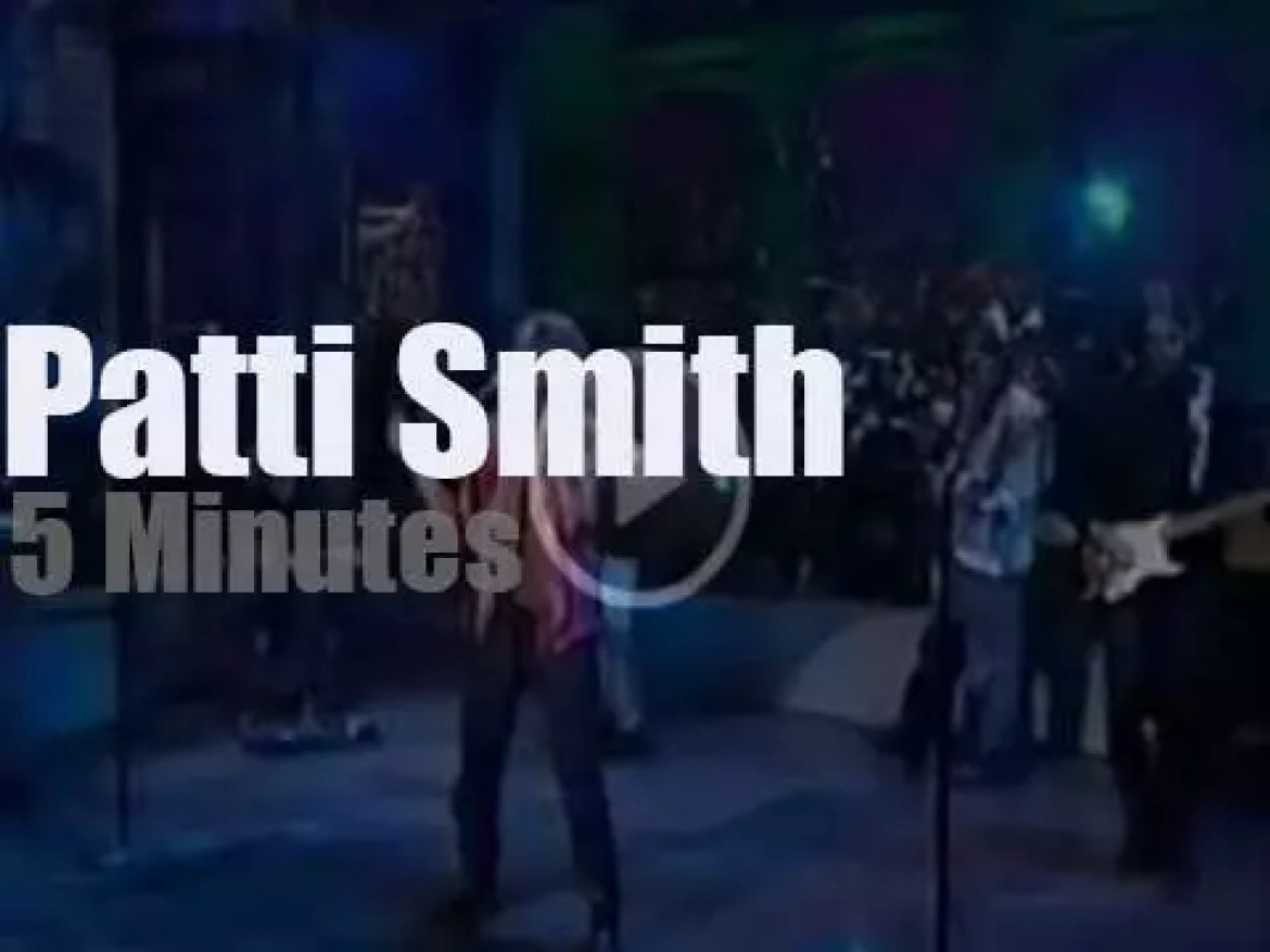 On TV today,  Patti Smith with 'David Letterman' (1996)