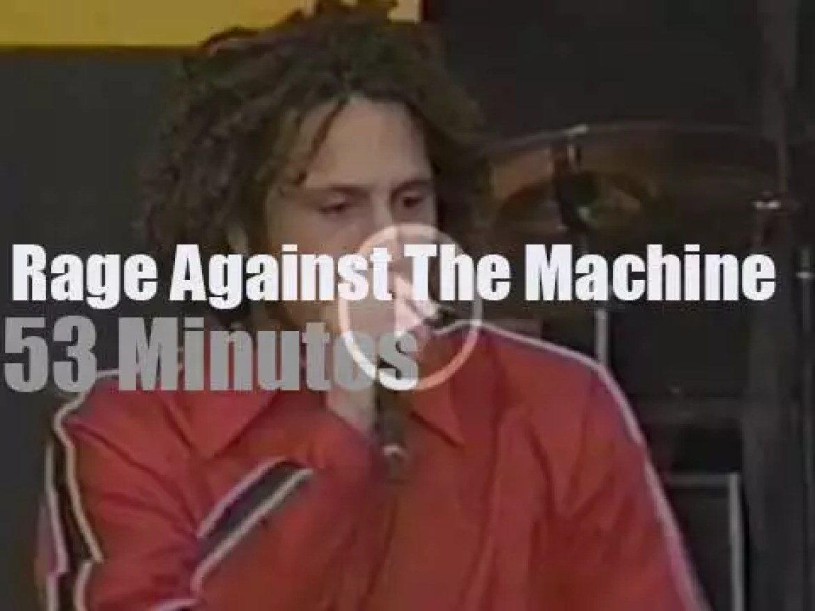 Rage Against The Machine play for Tibet (1996)