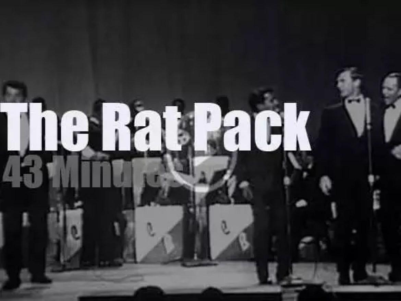 Sammy Davis, Jr, Frank Sinatra, Dean Martin & Johnny Carson meet in Kiel (1965)