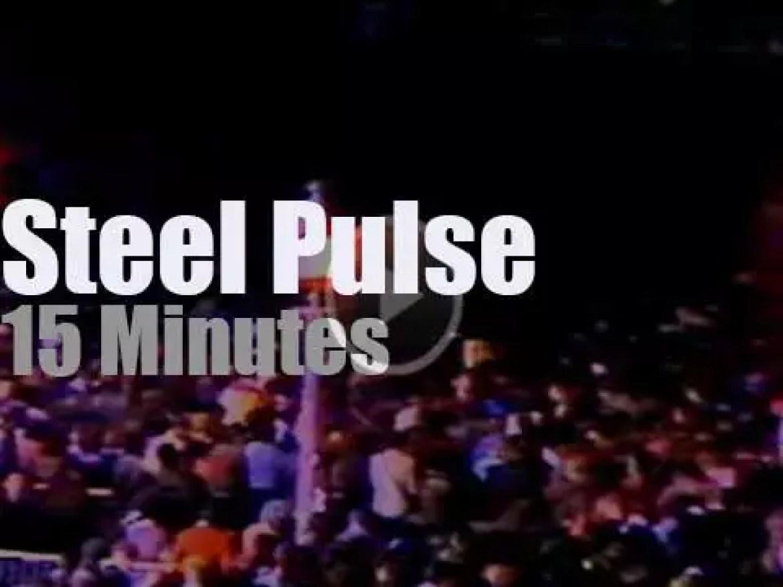 Steel Pulse perform against racism in Paris (1985)