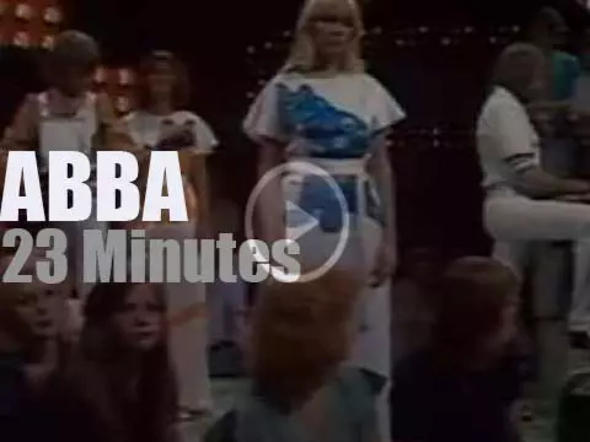 Today on Dutch TV, ABBA at 'The Eddy Go Round Show' (1975)
