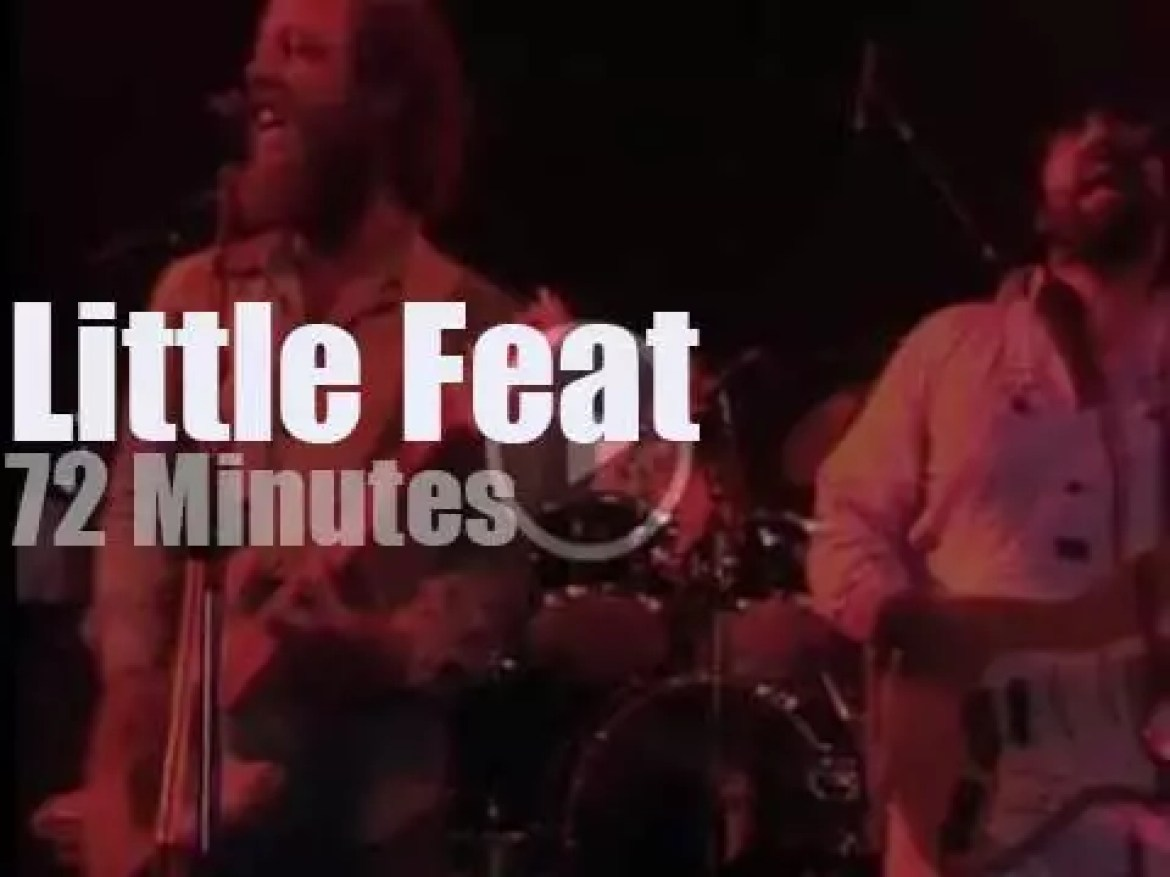 German TV tapes Little Feat (1977)